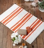 Rugs to Clear Orange Cotton 20 x 31 Bath Mat - 1 Pc
