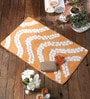 20 x 31 Inch Orange Cotton Bath Mat by Rugs to Clear