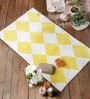 20 x 31 Inch Yellow Cotton Bath Mat by Rugs to Clear