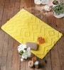 Yellow Cotton 20 x 31 Bath Mat - 1 Pc by Rugs to Clear