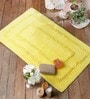Felipe Bath Mat in Yellow by Casacraft