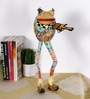 Rural Craft Multicolour Iron Frog Playing Violin
