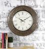 Multicolour Metal & MDF 17.5 Inch Round Chic Checks Wall Clock by Rural Craft