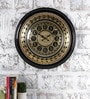 Rural Craft Multicolour Metal & MDF 18 Inch Round Dart of Art Wall Clock
