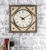 Multicolour Metal & MDF Round The Corner Wall Clock by Rural Craft