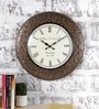 Multicolour Metal & MDF 17.5 Inch Round Shower of Flowers Wall Clock by Rural Craft