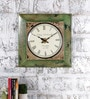 Rural Craft Multicolour Metal & MDF Stare At Square Wall Clock