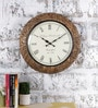 Multicolour Metal & MDF 16 Inch Round The Bravo Wall Clock by Rural Craft