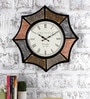 Multicolour Metal & MDF 22 Inch Round The Octa Shades Wall Clock by Rural Craft