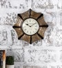 Multicolour Metal & MDF 12.8 Inch Round The Odd One Out Wall Clock by Rural Craft