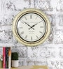 Multicolour Metal & MDF 16 Inch Round The Old School Wall Clock by Rural Craft