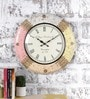 Multicolour Metal & MDF 17.5 Inch Round The Quad Squad Wall Clock by Rural Craft