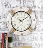 Multicolour Metal & MDF 17.5 Inch Round The Royal Dial Wall Clock by Rural Craft
