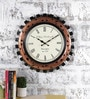 Multicolour Metal & MDF The Spinous Clock Wall Clock by Rural Craft