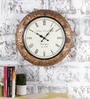Multicolour Metal & MDF The Trendsetter Wall Clock by Rural Craft