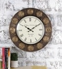 Multicolour Metal & MDF 17.5 Inch Round Zodiac Zeal Wall Clock by Rural Craft