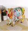 Rural Craft Multicolour Resin Cow with Shoes