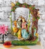 Rural Craft Multicolour Resin Radha Krishna Swing