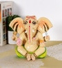 Rural Craft Multicolour Resin Relaxing Ganesha