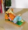 Rural Craft Multicolour Resin Resting Ganesha