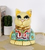 Rural Craft Multicolour Resin Shy Cat Showpiece