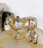 Rural Craft Multicolour Resin Silver Kamdhenu with Calf