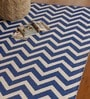 Blue & White PVC 91 x 63 Inch Area Rug by The Rug Republic
