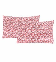 S9Home By Seasons Multicolour 100% Cotton 20 X 30 Inch Printed Pillow Cover - Set Of 2 - 1603101