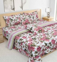 S9Home By Seasons Multicolour 100% Cotton 108 X 108 Inch Printed Bedding Set - 1603090