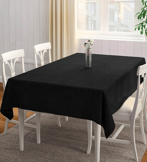 Buy Polyester Black Table Cloth Online Solid Table Cloths Dining Bar Dining Bar Pepperfry Product