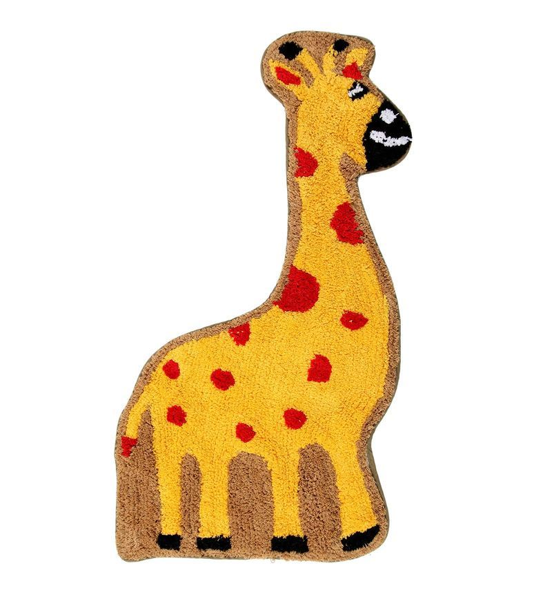 Premium Quality Giraffe Bath Mat in Multicolour by S9home by Seasons