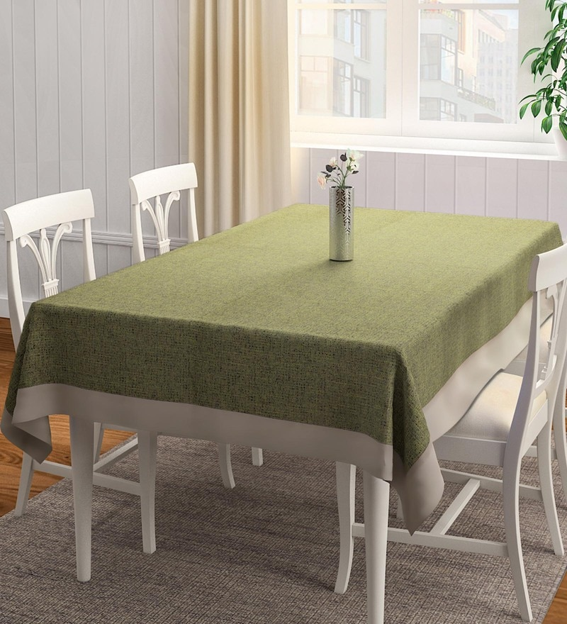 S9Home by Seasons Plain Lime Polyester Table Cloth