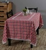 S9home by Seasons Red Poly Cotton 6-seater Table Cover and Napkin 7-piece Set
