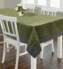 S9home by Seasons Animal Print Green & Grey Polyester Table Cloth