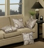 Beige Polyester 16 x 16 Inch Cushion Cover with Piping - Set of 4 by S9home by Seasons