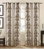 S9Home by Seasons Beige Polyester Indian Ethnic Curtain - Set of 2