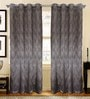 S9Home by Seasons Black & Grey Polyester Geometric Curtain - Set of 2