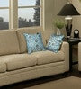 Blue Polyester 16 x 16 Inch Traditional Cushion Cover with Piping - Set of 2 by S9home by Seasons