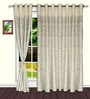 White Polyester Ethnic Door Curtain - Set of 2 by S9home by Seasons