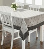 S9home by Seasons Floral Grey Polyester Table Cloth