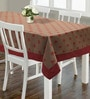 S9home by Seasons Floral Red & Brown Polyester Table Cloth
