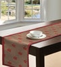S9home by Seasons Floral Red & Brown Polyester Table Runner