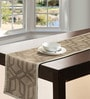 S9home by Seasons Geometrical Khaki Polyester Table Runner