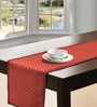 S9home by Seasons Geometrical Red Polyester Table Runner