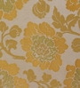 S9home by Seasons Yellow Polyester Floral Window Curtain - Set of 2