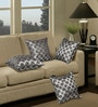 Grey & Silver Polyester 16 x 16 Inch Cushion Cover with Piping - Set of 4 by S9home by Seasons