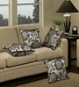 Grey Polyester 16 x 16 Inch Cushion Cover with Piping - Set of 4 by S9home by Seasons