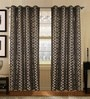 S9Home by Seasons Grey Polyester Geometric Curtain - Set of 2