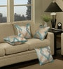 Multicolour Polyester 16 x 16 Inch Abstract Cushion Cover with Piping - Set of 4 by S9home by Seasons