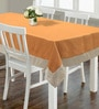 S9home by Seasons Plain Orange Polyester Table Cloth